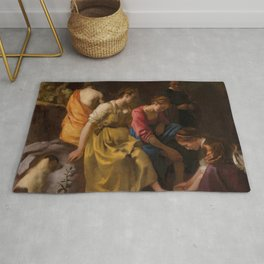 "Johannes Vermeer ""Diana and her Nymphs"" Rug"