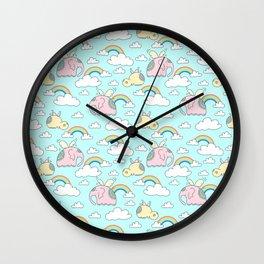 Elephants and hippos Wall Clock