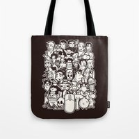discworld Tote Bags featuring Point and Click  by Hoborobo