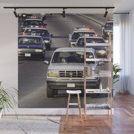 OJ Simpson Car Chase Wall Mural
