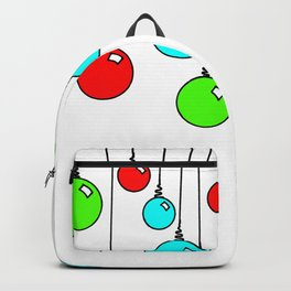 Hanging Christmas Ornaments - Red Green Blue Backpack