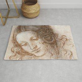 Study for the Head of Leda - Leonardo da Vinci  Rug