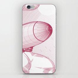 Airship engraving iPhone Skin