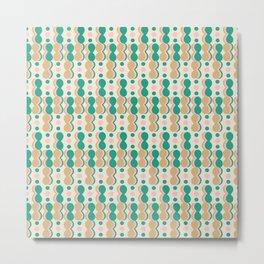 Uende Cactus - Geometric and bold retro shapes Metal Print