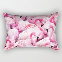 Flamingo Party Rectangular Pillow