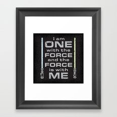 Force is with Me - Both&Black Framed Art Print
