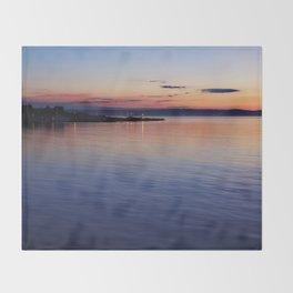 A sunset view of Ballyholme Throw Blanket