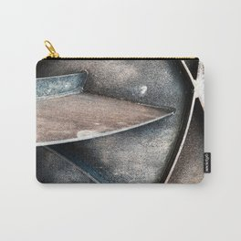 Urban Industrial Art Design In Vintage Wood Carry-All Pouch