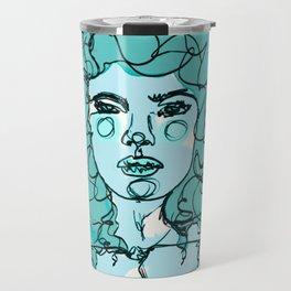 Curly Turquoise Travel Mug