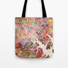 Baltimore map Tote Bag
