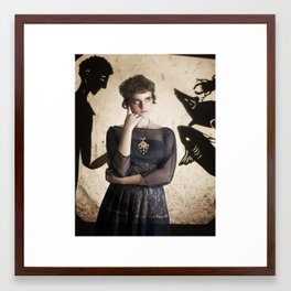 The Princess Who Never Smiled Framed Art Print