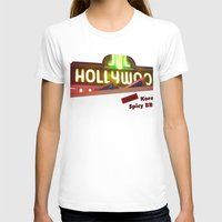 hollywood T-shirts featuring Hollywood Neon by Umbrella Design