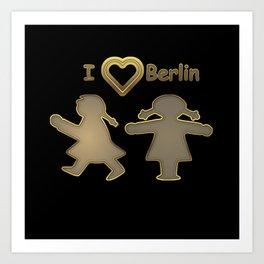 I Love Berlin Capital Germany Art Print