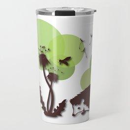 Dandelion And Hedgehog No. 2 Travel Mug