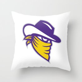 Bandit Covered Face Icon Throw Pillow