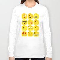 emoji Long Sleeve T-shirts featuring Emoji-Minifigure by Raddington Falls
