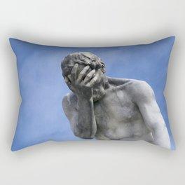 Contemplating Blue Skies Rectangular Pillow