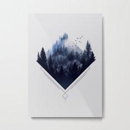 Blue Woods Metal Print