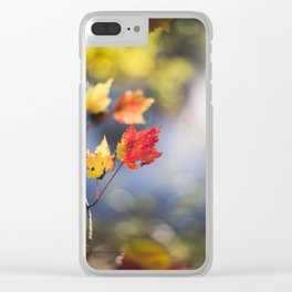 Autumn Soliloquy Clear iPhone Case