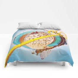 Lemon Slide Comforters