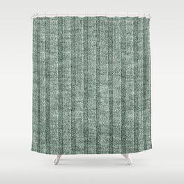 Moss Green Jersey Knit Pattern Shower Curtain