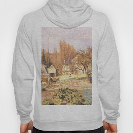 Kitchen Garden At The Hermitage Pontoise 1874 By Camille Pissarro | Reproduction | Impressionism Pai Hoody
