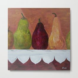 Pears on Parade Metal Print