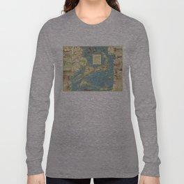 Vintage Cape Cod Map (1940) Long Sleeve T-shirt