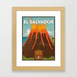 Volcanoes of El Salvador Framed Art Print