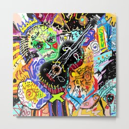Albert on Blues Guitar Metal Print