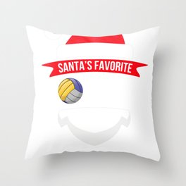 santafave coach volleyball Throw Pillow