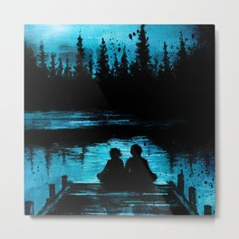 Sitting on the Dock of the Bay Metal Print