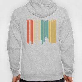 Retro 1970's Style Winston-Salem North Carolina Skyline Hoody