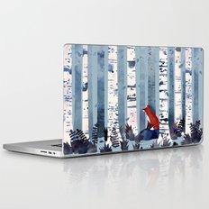 The Birches (in Blue) Laptop & iPad Skin