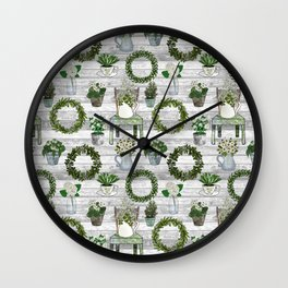 Farmhouse Botanicals Wall Clock