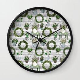 Farmhouse Botanicals Wall Clock