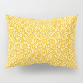 Yellow Sea Waves Pillow Sham