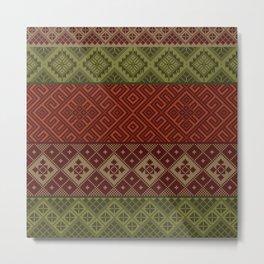 christmas knit Metal Print