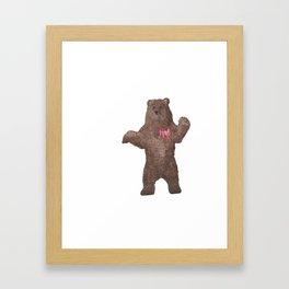 Braveheart Brave Bear Watercolor Bear Framed Art Print