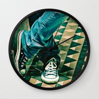 converse Wall Clocks featuring Icon Converse by Sparrow House Photography