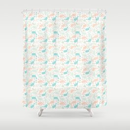 Pastel Whale Pattern Shower Curtain