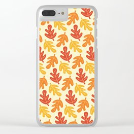 Fall Vibes Pattern Clear iPhone Case