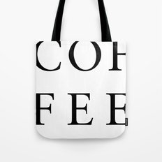 #COFFEE Tote Bag