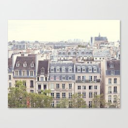 Parisian Roofs from Above Canvas Print