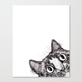 Hey! Cat! Canvas Print