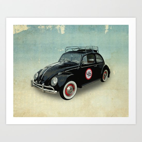 Number 46 -VW Beetle Art Print