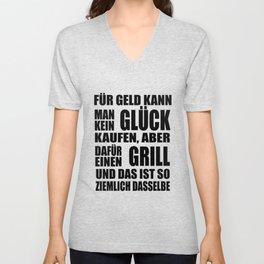 Grill - Glück - Geld Unisex V-Neck