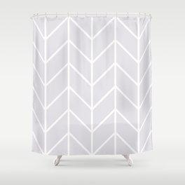 Herringbone Chevron (Gray) Shower Curtain