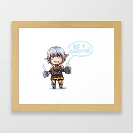 FFXIV Tiny Haurchefant Framed Art Print