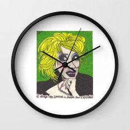 "Tammy Faye Bakker; ""I always say shopping is cheaper than a psychiatrist"" Wall Clock"